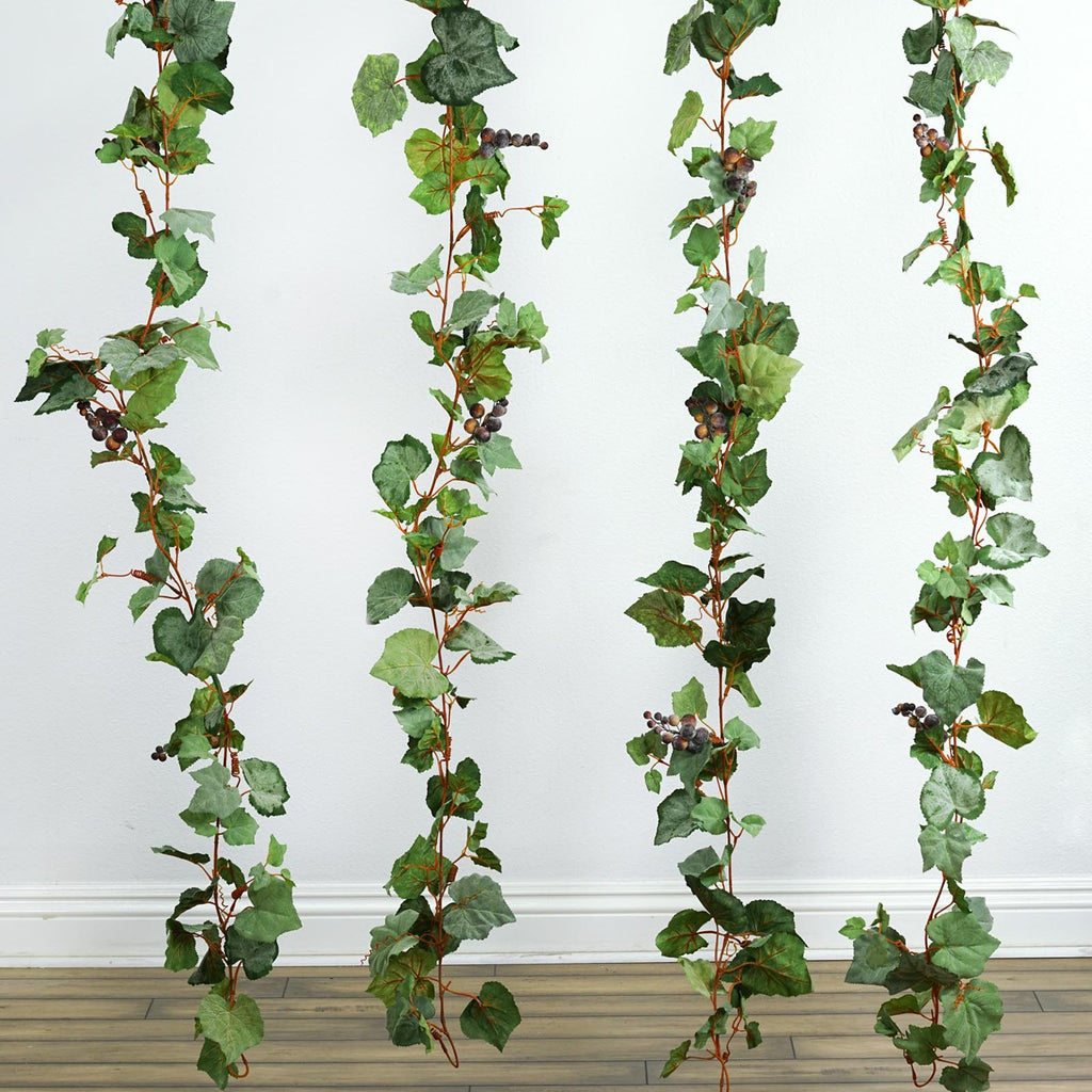4 x Frosted Grape Garland