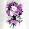 10 Pack 70 Pcs Lavender Artificial Silk Tiger Lily Flowers