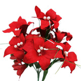 70 Artificial Silk Tiger Lily Wedding Flower Bouquet Vase Centerpiece Decor - Red