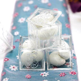 Clear Fillable Baby Blocks Birthday Shower Party Favors Gift - 12/pk