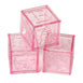 "Pack of 12 | 1"" Pink Fillable Plastic Baby Blocks Toys 