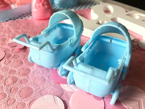 12 Pack Blue Baby Carriage