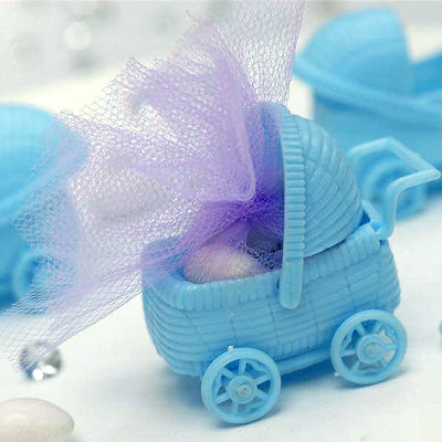 Blue Baby Carriage Birthday Shower Party Favors Gift - 12/pk