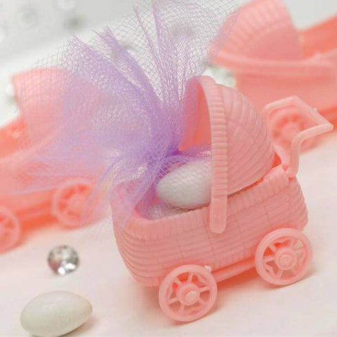 Pink Baby Carriage Birthday Shower Party Favors Gift - 12/pk