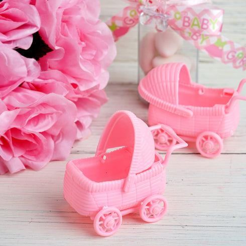 12 Pack Pink Baby Carriage