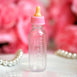 12 Pack | 1 Oz Pink Fillable Milk Bottles