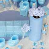 Baby Lot of Assorted Decorations for Baby Shower- Baby Blue