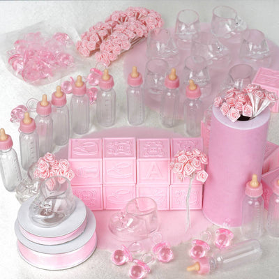Lot Of Assorted Decorations For Baby Shower Pink Efavormart