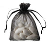 "10 Pack 3x4"" Black Organza Drawstring Party Favor Gift Pouch Candy Bags For Wedding Birthday Baby Shower"