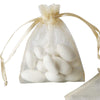 "10 Pack 3x4"" Champagne Organza Drawstring Party Favor Gift Pouch Candy Bags For Wedding Birthday Baby Shower"
