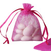 "10 Pack 3x4"" Fushia Organza Drawstring Party Favor Gift Pouch Candy Bags For Wedding Birthday Baby Shower"