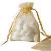 "10 Pack 3x4"" Gold Organza Drawstring Party Favor Gift Pouch Candy Bags For Wedding Birthday Baby Shower"