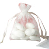 "10 Pack 3x4"" Ivory Organza Drawstring Party Favor Gift Pouch Candy Bags For Wedding Birthday Baby Shower"