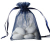 "10 Pack 3x4"" Navy Blue Organza Drawstring Party Favor Gift Pouch Candy Bags For Wedding Birthday Baby Shower"