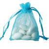 "10 Pack 3x4"" Turquoise Organza Drawstring Party Favor Gift Pouch Candy Bags For Wedding Birthday Baby Shower"