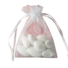 "10 Pack 3x4"" White Organza Drawstring Party Favor Gift Pouch Candy Bags For Wedding Birthday Baby Shower"