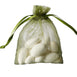 "3x4"" Organza Drawstring Bags - Moss/Willow - 10 Pack"
