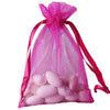 "10 Pack 4x6"" Fushia Organza Drawstring Party Favor Gift Pouch Candy Bags For Wedding Birthday Baby Shower"