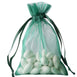 "Pack of 10 - 4""x6"" Hunter Emerald Green Organza Drawstring Pouch Candy Favor Bags, Gift Bags for Wedding Favors"