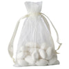 "10 Pack 4x6"" Ivory Organza Drawstring Party Favor Gift Pouch Candy Bags For Wedding Birthday Baby Shower"