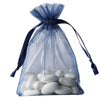 "10 Pack 4x6"" Navy Blue Organza Drawstring Party Favor Gift Pouch Candy Bags For Wedding Birthday Baby Shower"