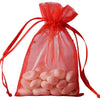 "10 Pack 4x6"" Red Organza Drawstring Party Favor Gift Pouch Candy Bags For Wedding Birthday Baby Shower"