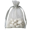 "10 Pack 4x6"" Silver Organza Drawstring Party Favor Gift Pouch Candy Bags For Wedding Birthday Baby Shower"