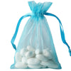"10 Pack 4x6"" Turquoise Organza Drawstring Party Favor Gift Pouch Candy Bags For Wedding Birthday Baby Shower"