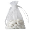 "10 Pack 4x6"" White Organza Drawstring Party Favor Gift Pouch Candy Bags For Wedding Birthday Baby Shower"