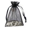 "10 Pack 5x7"" Black Organza Drawstring Party Favor Gift Pouch Candy Bags For Wedding Birthday Baby Shower"