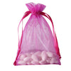 "10 Pack 5x7"" Fushia Organza Drawstring Party Favor Gift Pouch Candy Bags For Wedding Birthday Baby Shower"