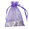 "10 Pack 5x7"" Purple Organza Drawstring Party Favor Gift Pouch Candy Bags For Wedding Birthday Baby Shower"