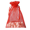 "10 Pack 5x7"" Red Organza Drawstring Party Favor Gift Pouch Candy Bags For Wedding Birthday Baby Shower"
