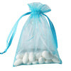 "10 Pack 5x7"" Turquoise Organza Drawstring Party Favor Gift Pouch Candy Bags For Wedding Birthday Baby Shower"