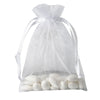"10 Pack 5x7"" White Organza Drawstring Party Favor Gift Pouch Candy Bags For Wedding Birthday Baby Shower"