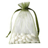 "5x7"" Organza Drawstring Bags - Moss/Willow - 10 Pack"