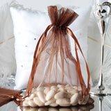 "6 x 9"" Chocolate Organza Bags"