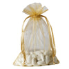 "10 Pack 6x9"" Gold Organza Drawstring Party Favor Gift Pouch Candy Bags For Wedding Birthday Baby Shower"