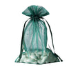 "6x9"" Organza Drawstring Bags - Hunter Green - 10 Pack"