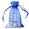 "6x9"" Organza Drawstring Bags - Royal Blue - 10 Pack"