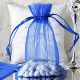 "6 x 9"" Royal Blue Organza Bags"