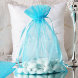 6X9 Turquoise Organza Bags-10/pk