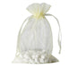 "10 Pack | 6""x9"" Yellow Organza Favor Bags Party Drawstring Pouches"