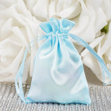 "3 x 4"" Baby Blue Satin Bags"