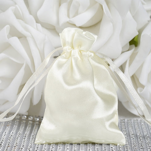"3 x 4"" Ivory Satin Bags"
