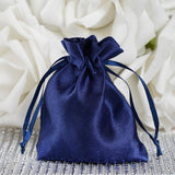 "3 x 4"" Navy Blue Satin Bags"