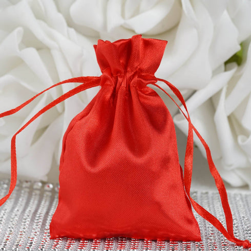 "3 x 4"" Red Satin Bags"