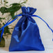 "12 Pack 3x4"" Royal Blue Satin Drawstring Bags"
