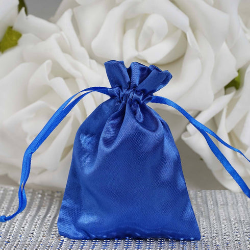 "3 x 4"" Royal Blue Satin Bags"