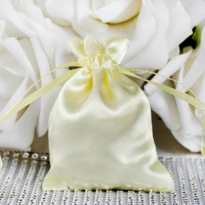 "3 x 4"" Yellow Satin Bags"